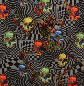 Quilt titled Skeleton Blinged Out