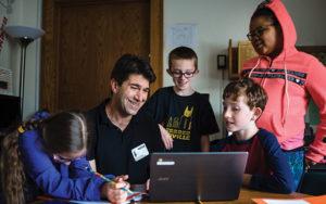 Shaker schools volunteer with students