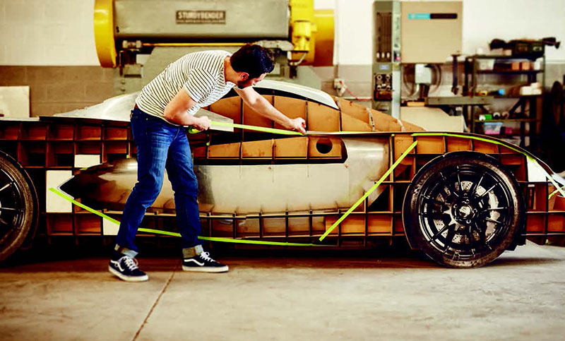 Carlos Salaff working on the SALAFFDesign C1 supercar.