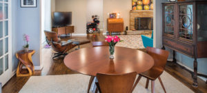 Dining room of Shaker Heights home