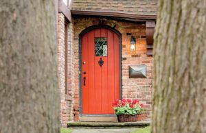 Evelyn and Dave Greene's red front door