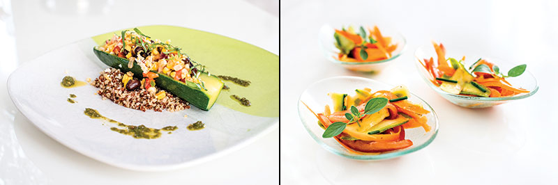 Two salads by chef Anthony Vicente