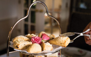Scones by the Rolling Tea Cart