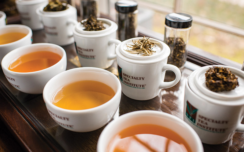 Selection of teas by Rolling Tea Cart.