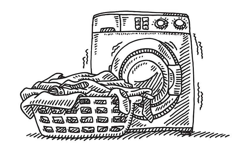 Graphic of washing machine