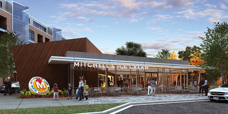 A rendering of Mitchell's as envisioned at the Van Aken District.