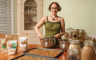 Rachel Ruthenbeck, owner of Hippie Chicks Nom