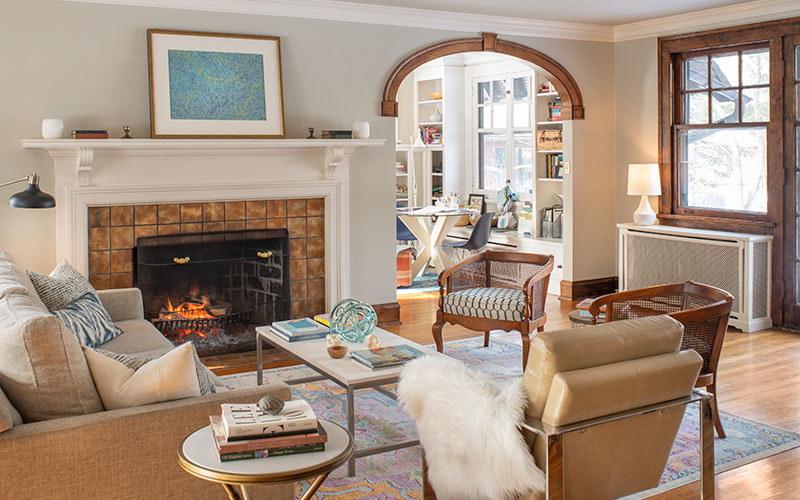 Designer Denise Dixon's Shaker Heights living room