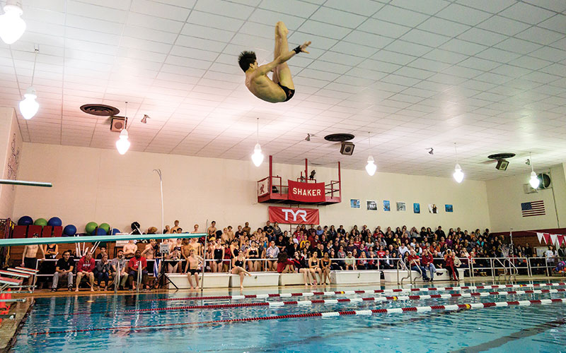 Shaker Heights diver Lyle Yost in mid-air