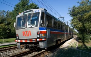 Rapid train in Shaker Heights, Ohio