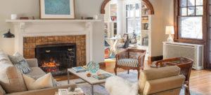 Designer Denise Dixon's living room