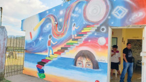 Mural on a building in Honduras