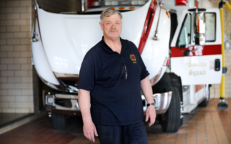 Chuck Bates, Mechanic, Shaker Heights Fire Dept.