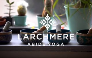 Opening screen of Abide Yoga video