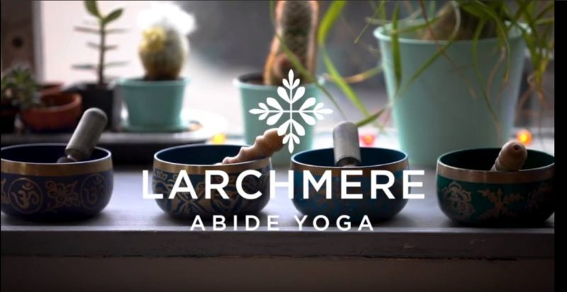 Opening screen of Abide Yoga video