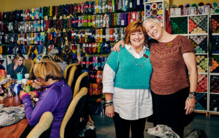 Around the Table Yarns owners Beth Billings and Pam Berkson