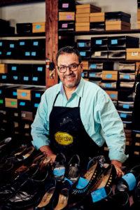 Carlos Gomez, owner of Gomez Shoe Repair
