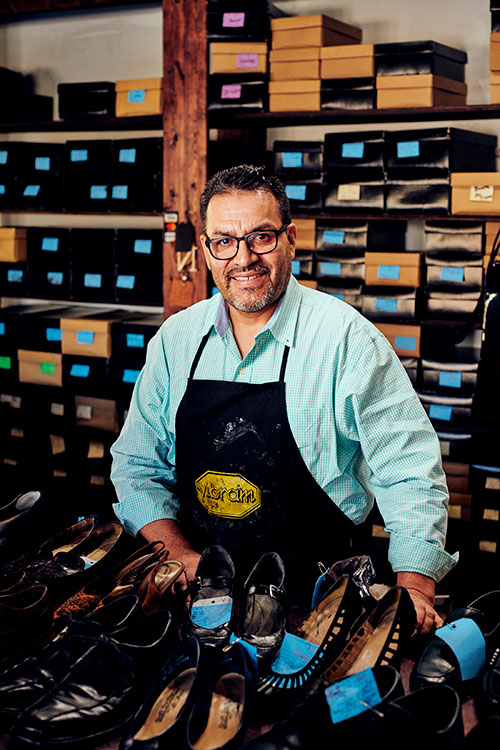 Carlos Gomez, owner of Gomez Shoe Repair