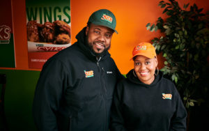Sam and Zenobia Sylk, owners of Sam Sylk's Chicken and Fish