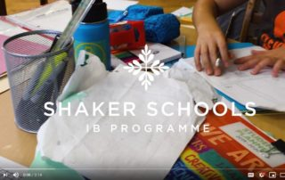 Still from opening screen of Shaker Schools video