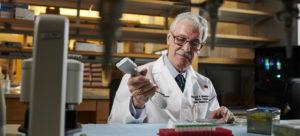 Dr. Ghannoum in his lab