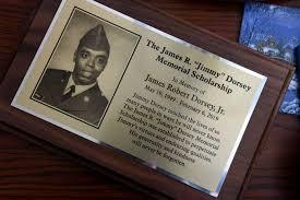 Plaque commemorating James Dorsey Memorial Scholarship