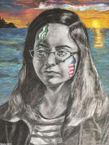 Self portrait by Raksha Khatri