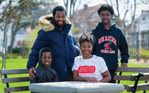 Kim Harris and her sons