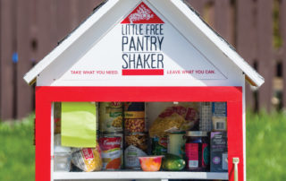 Close up of the Little Free Pantry
