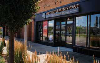 Exterior of The Gentlemen's Cave Luxury Barber Lounge at 20306 Chagrin Blvd.