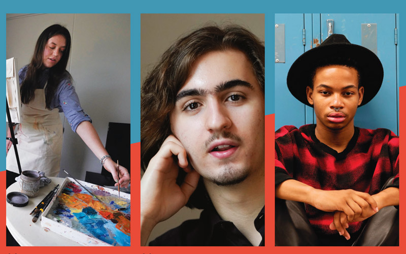 Students profiled in Art Lessons article